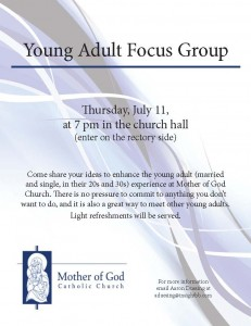 mother of god launches young adult focus group